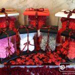 Gray Rose Bear + GiftBox + Rose Petals